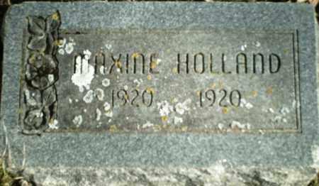 HOLLAND, MAXINE - Madison County, Arkansas | MAXINE HOLLAND - Arkansas Gravestone Photos