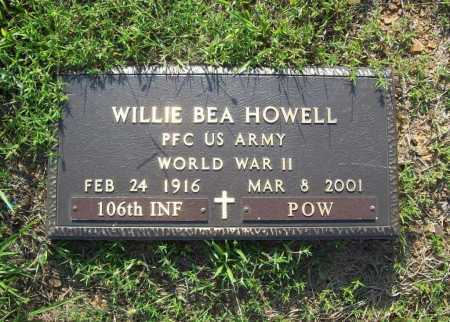 HOWELL (VETERAN WWII, POW), WILLIE BEA - Madison County, Arkansas | WILLIE BEA HOWELL (VETERAN WWII, POW) - Arkansas Gravestone Photos