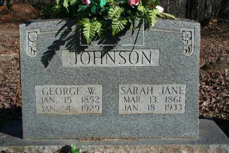 JOHNSON, GEORGE W. - Madison County, Arkansas | GEORGE W. JOHNSON - Arkansas Gravestone Photos