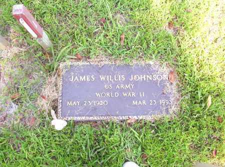 JOHNSON  (VETERAN WWII), JAMES WILLIS - Madison County, Arkansas | JAMES WILLIS JOHNSON  (VETERAN WWII) - Arkansas Gravestone Photos