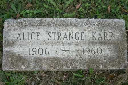 STRANGE KARR, ALICE - Madison County, Arkansas | ALICE STRANGE KARR - Arkansas Gravestone Photos