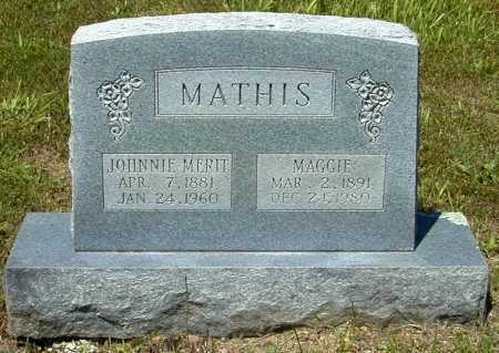 MATHIS, JOHNNIE MERIT - Madison County, Arkansas | JOHNNIE MERIT MATHIS - Arkansas Gravestone Photos