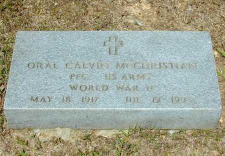 MCCHRISTIAN (VETERAN WWII), ORAL CALVIN - Madison County, Arkansas | ORAL CALVIN MCCHRISTIAN (VETERAN WWII) - Arkansas Gravestone Photos
