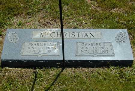 MCCHRISTIAN, CHARLES L. - Madison County, Arkansas | CHARLES L. MCCHRISTIAN - Arkansas Gravestone Photos