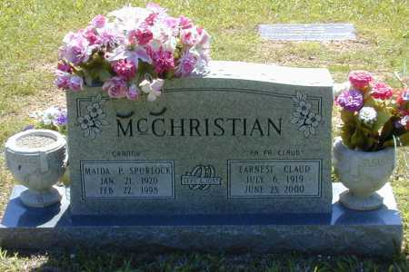 MCCHRISTIAN, EARNEST CLAUD - Madison County, Arkansas | EARNEST CLAUD MCCHRISTIAN - Arkansas Gravestone Photos