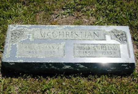 MCCHRISTIAN, JOSEPH WILLIAM - Madison County, Arkansas | JOSEPH WILLIAM MCCHRISTIAN - Arkansas Gravestone Photos