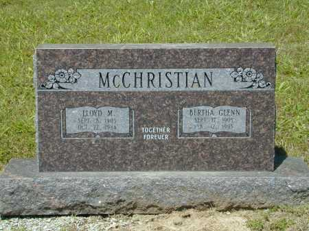GLENN MCCHRISTIAN, BERTHA - Madison County, Arkansas | BERTHA GLENN MCCHRISTIAN - Arkansas Gravestone Photos