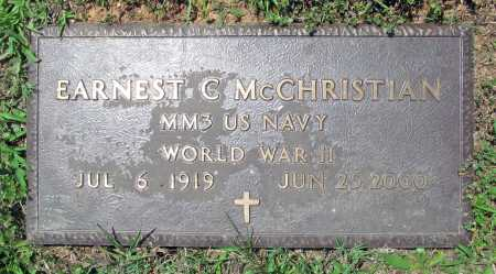 MCCHRISTIAN (VETERAN WWII), EARNEST CLAUD - Madison County, Arkansas | EARNEST CLAUD MCCHRISTIAN (VETERAN WWII) - Arkansas Gravestone Photos