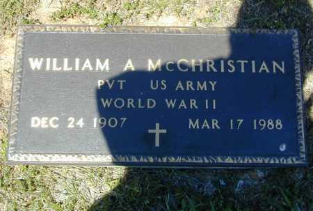 MCCHRISTIAN (VETERAN WWII), WILLIAM ALBERT - Madison County, Arkansas | WILLIAM ALBERT MCCHRISTIAN (VETERAN WWII) - Arkansas Gravestone Photos