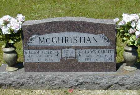 MCCHRISTIAN, WILLIAM ALBERT - Madison County, Arkansas | WILLIAM ALBERT MCCHRISTIAN - Arkansas Gravestone Photos