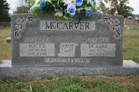 MCCARVER, MATTIE - Madison County, Arkansas | MATTIE MCCARVER - Arkansas Gravestone Photos
