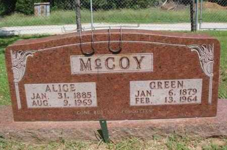 MCCOY, GREEN - Madison County, Arkansas | GREEN MCCOY - Arkansas Gravestone Photos