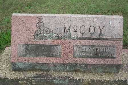 MCCOY, ELIZABETH - Madison County, Arkansas | ELIZABETH MCCOY - Arkansas Gravestone Photos