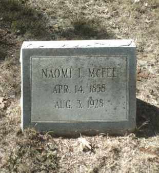 MCFEE, NAOMI L. - Madison County, Arkansas | NAOMI L. MCFEE - Arkansas Gravestone Photos