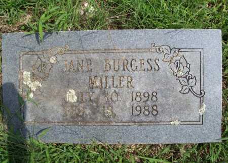 BURGESS MILLER, JANE - Madison County, Arkansas | JANE BURGESS MILLER - Arkansas Gravestone Photos