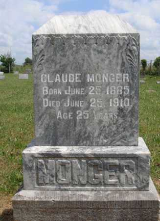 MONGER, CLAUDE - Madison County, Arkansas | CLAUDE MONGER - Arkansas Gravestone Photos