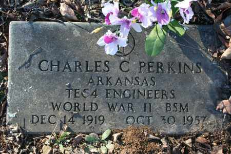 PERKINS (VETERAN WWII), CHARLES C - Madison County, Arkansas | CHARLES C PERKINS (VETERAN WWII) - Arkansas Gravestone Photos