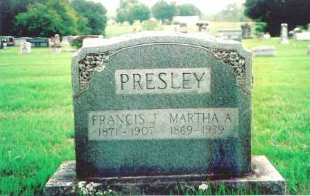 PRESLEY, MARTHA A. - Madison County, Arkansas | MARTHA A. PRESLEY - Arkansas Gravestone Photos