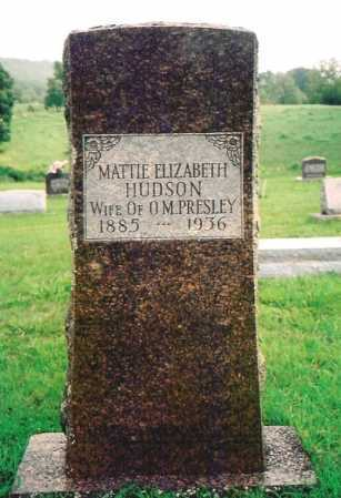 HUDSON PRESLEY, MATTIE ELIZABETH - Madison County, Arkansas | MATTIE ELIZABETH HUDSON PRESLEY - Arkansas Gravestone Photos
