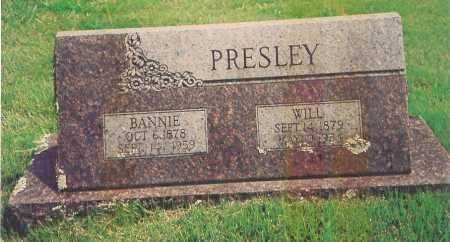 PRESLEY, BANNIE - Madison County, Arkansas | BANNIE PRESLEY - Arkansas Gravestone Photos
