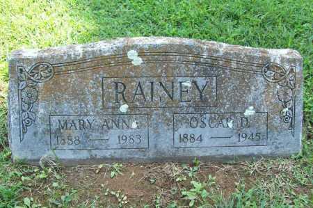 RAINEY, OSCAR D. - Madison County, Arkansas | OSCAR D. RAINEY - Arkansas Gravestone Photos
