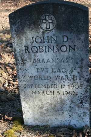 ROBINSON (VETERAN WWII), JOHN D - Madison County, Arkansas | JOHN D ROBINSON (VETERAN WWII) - Arkansas Gravestone Photos