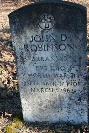 ROBINSON (VETERAN WWII), JOHN D - Madison County, Arkansas | JOHN D ROBINSON (VETERAN WWII) - Arkansas Gravestone Photos