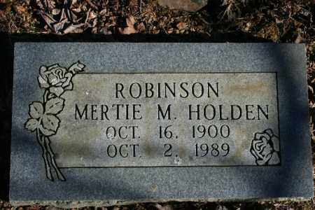 HOLDEN ROBINSON, MERTIE M. - Madison County, Arkansas | MERTIE M. HOLDEN ROBINSON - Arkansas Gravestone Photos
