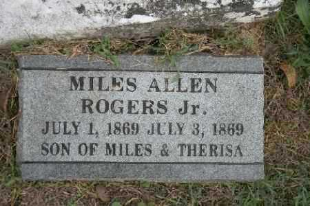 ROGERS, MILES ALLEN JR. - Madison County, Arkansas | MILES ALLEN JR. ROGERS - Arkansas Gravestone Photos