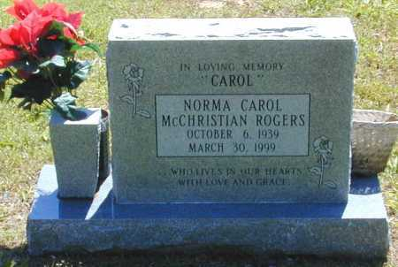 MCCHRISTIAN ROGERS, NORMA CAROL - Madison County, Arkansas | NORMA CAROL MCCHRISTIAN ROGERS - Arkansas Gravestone Photos