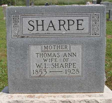 SHARPE, THOMAS ANN - Madison County, Arkansas | THOMAS ANN SHARPE - Arkansas Gravestone Photos