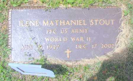 "STOUT (VETERAN WWII), ILENE MATHANIEL ""BUD"" - Madison County, Arkansas 