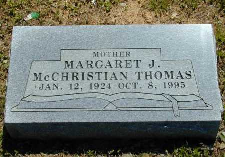 MCCHRISTIAN THOMAS, MARGARET J. - Madison County, Arkansas | MARGARET J. MCCHRISTIAN THOMAS - Arkansas Gravestone Photos