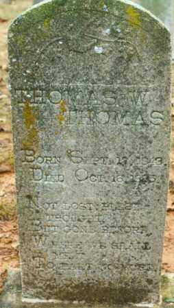 THOMAS, THOMAS W. - Madison County, Arkansas | THOMAS W. THOMAS - Arkansas Gravestone Photos
