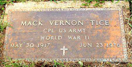 TICE (VETERAN WWII), MACK VERNON - Madison County, Arkansas | MACK VERNON TICE (VETERAN WWII) - Arkansas Gravestone Photos