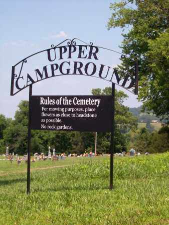 *UPPER CAMPGROUND SIGN,  - Madison County, Arkansas |  *UPPER CAMPGROUND SIGN - Arkansas Gravestone Photos