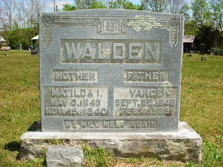 WALDEN, MATILDA I. - Madison County, Arkansas | MATILDA I. WALDEN - Arkansas Gravestone Photos