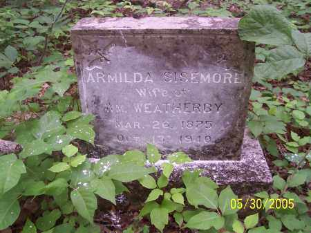 SISEMORE WEATHERBY, ARMILDA - Madison County, Arkansas | ARMILDA SISEMORE WEATHERBY - Arkansas Gravestone Photos