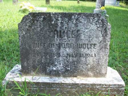 WOLFE, ALICE - Madison County, Arkansas | ALICE WOLFE - Arkansas Gravestone Photos