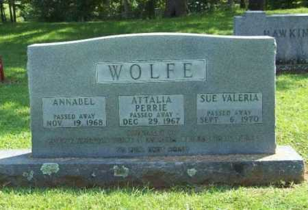 WOLFE, ATTALIA PERRIE - Madison County, Arkansas | ATTALIA PERRIE WOLFE - Arkansas Gravestone Photos