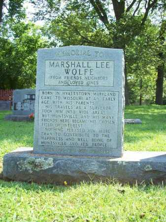 WOLFE MEMORIAL (VETERAN UNION), MARSHALL LEE - Madison County, Arkansas | MARSHALL LEE WOLFE MEMORIAL (VETERAN UNION) - Arkansas Gravestone Photos