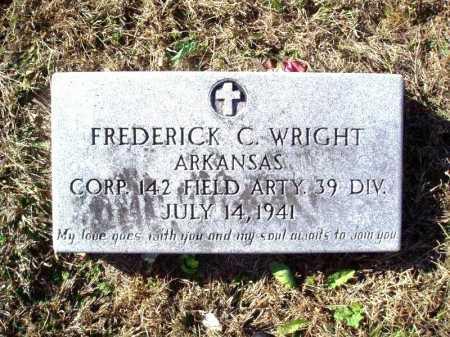 WRIGHT (VETERAN), FREDERICK C - Madison County, Arkansas | FREDERICK C WRIGHT (VETERAN) - Arkansas Gravestone Photos