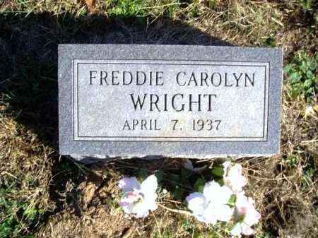 WRIGHT, FREDDIE CAROLYN - Madison County, Arkansas | FREDDIE CAROLYN WRIGHT - Arkansas Gravestone Photos