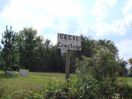 *CECIL CEMETERY SIGN,  - Madison County, Arkansas |  *CECIL CEMETERY SIGN - Arkansas Gravestone Photos