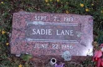 LANE, SADIE - Madison County, Arkansas | SADIE LANE - Arkansas Gravestone Photos