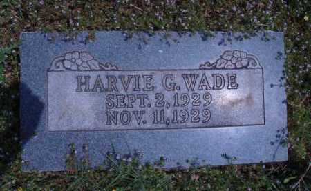 WADE, HARVIE G. - Madison County, Arkansas | HARVIE G. WADE - Arkansas Gravestone Photos