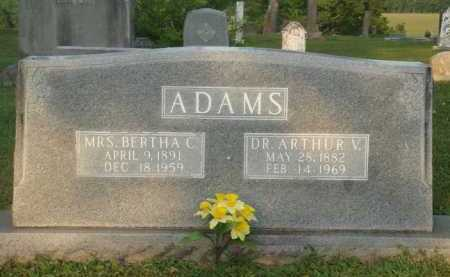 ADAMS, ARTHUR V. - Marion County, Arkansas | ARTHUR V. ADAMS - Arkansas Gravestone Photos