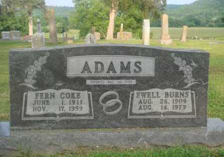 ADAMS, EWELL BURNS - Marion County, Arkansas | EWELL BURNS ADAMS - Arkansas Gravestone Photos