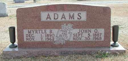 BURNES ADAMS, MYRTLE B. - Marion County, Arkansas | MYRTLE B. BURNES ADAMS - Arkansas Gravestone Photos