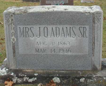 ADAMS, NANCY EMMALINE [MRS. J. Q.] - Marion County, Arkansas   NANCY EMMALINE [MRS. J. Q.] ADAMS - Arkansas Gravestone Photos